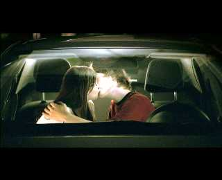 kissing in the car