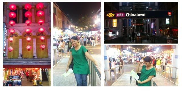 Chinatown yang meriah dengan lampion-lampion merah