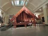 Rumah tradisional Maori tampak luar