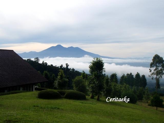 Gunung itu menghadirkan ketenangan yang bikin hati adem
