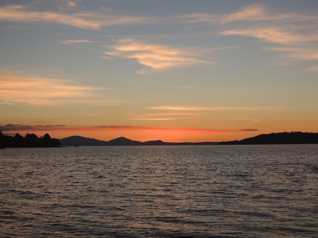 Sunset at Taupo Lake