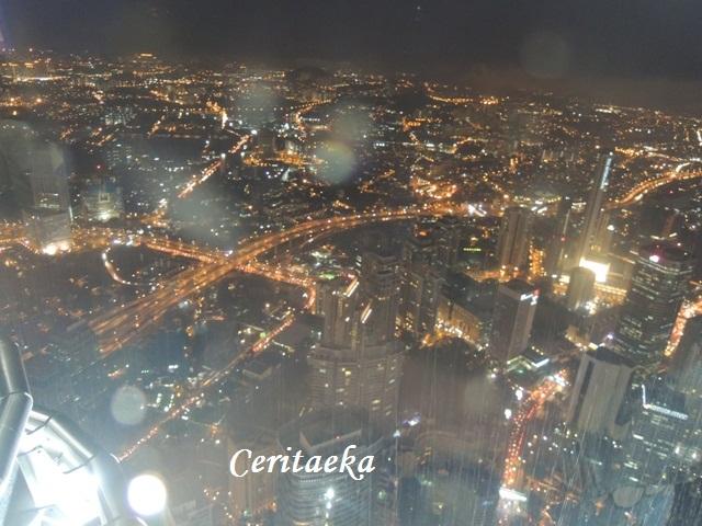 Kuala Lumpur dipandang dari lantai 41 Menara Petronas!