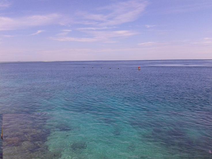 Ini posisi di mana saya mulai turun ke bawah air.