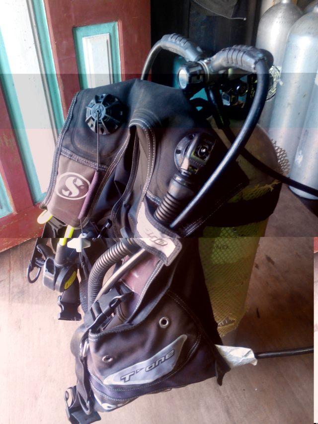 Dive gear yang saya pergunakan.
