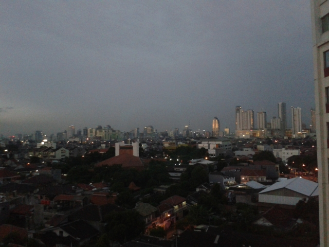 Pemandangan dari lantai 8 Hotel Santika Premierre Jakarta