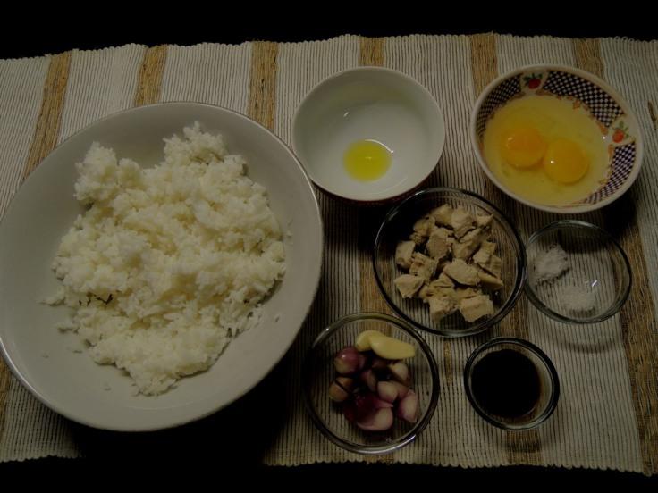 Bahan-bahan untuk bikin nasi goreng