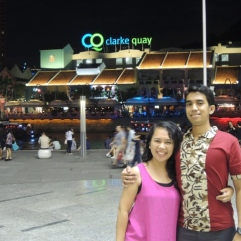 Love blooms at Clarke Quay