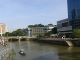 Suasana Clarke Quay saat pagi