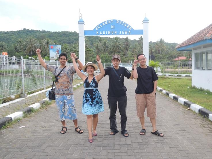 Touch down Karimun Jawa. Yeay!