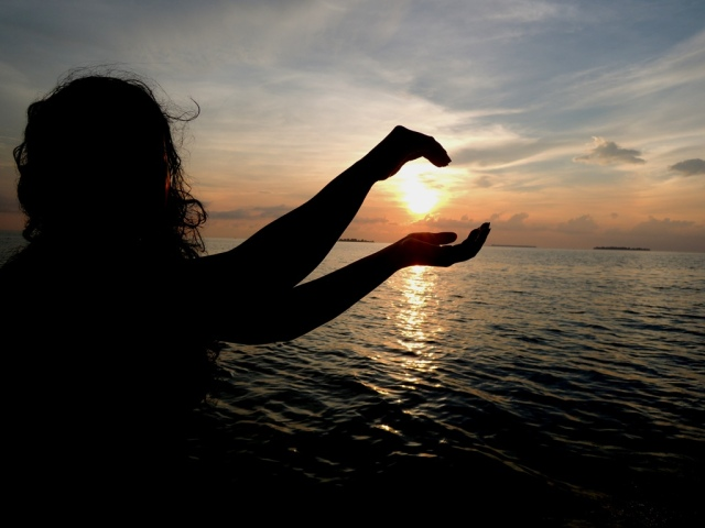 Menangkap matahari :)