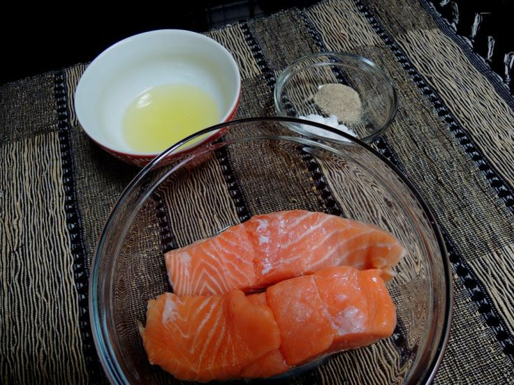 Salmon Grilled with Olive Oil 1