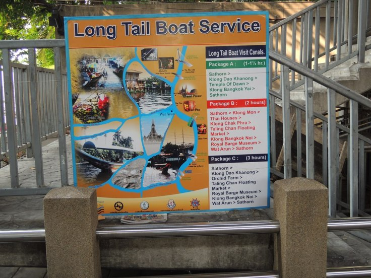 The scenic route that Long Tail Boat offer. Your call ;)