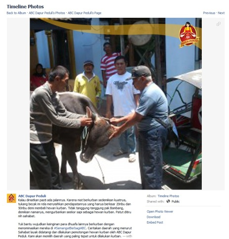 Kisah tukang becak yang dapat berkurban ini adalah contoh #SemangatBerbagiABC