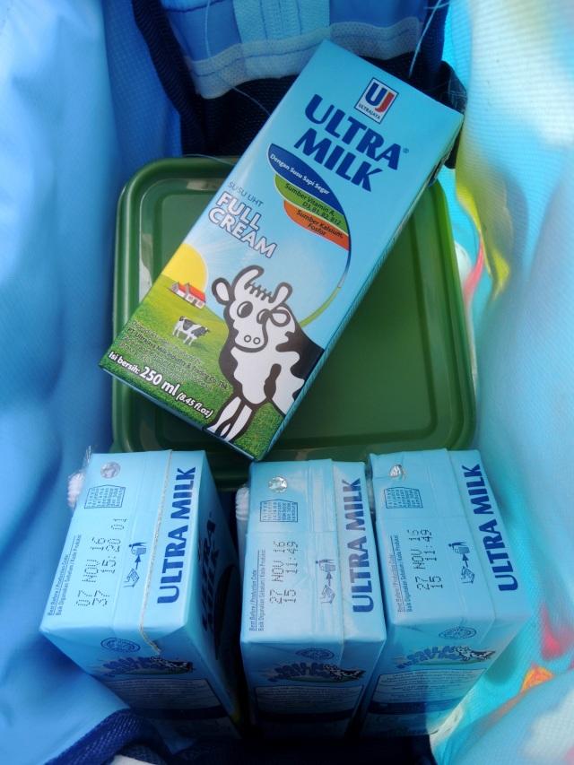 Susu yang dikemas dengan kemasan karton Tetra Pak gampang dibawa kemana-mana, nggak takut tumpah. Ringkas masuk ke dalam tas apa aja.