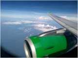 View during my flight QG 850 CGJ-DPS. Smooth flight and landing with funny pantun too :D