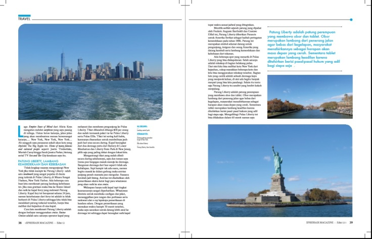 Tulisan saya di Majalah Xpress Air