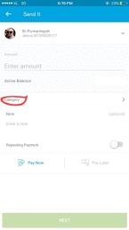 Sekarang inih kalau mau kirim uang bisa atur pengeluaran itu masuk di pos apa.