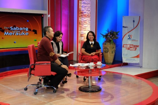 Eka Situmorang di acara Dialog Pesona Nusantara TVRI