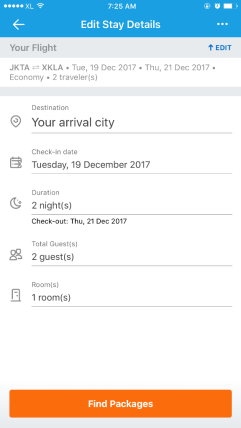 Fitur packages Traveloka booking flight and hotel