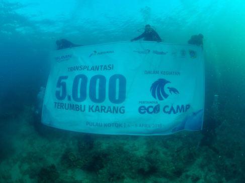 Rehabilitasi Terumbu Karang di Pulau Kotok 1