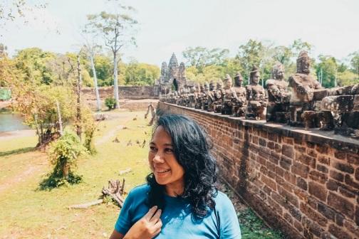 Jalan-jalan di Angkor Thom Cambodia