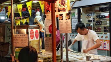 Penjaja Makanan pinggir jalan Bangkok